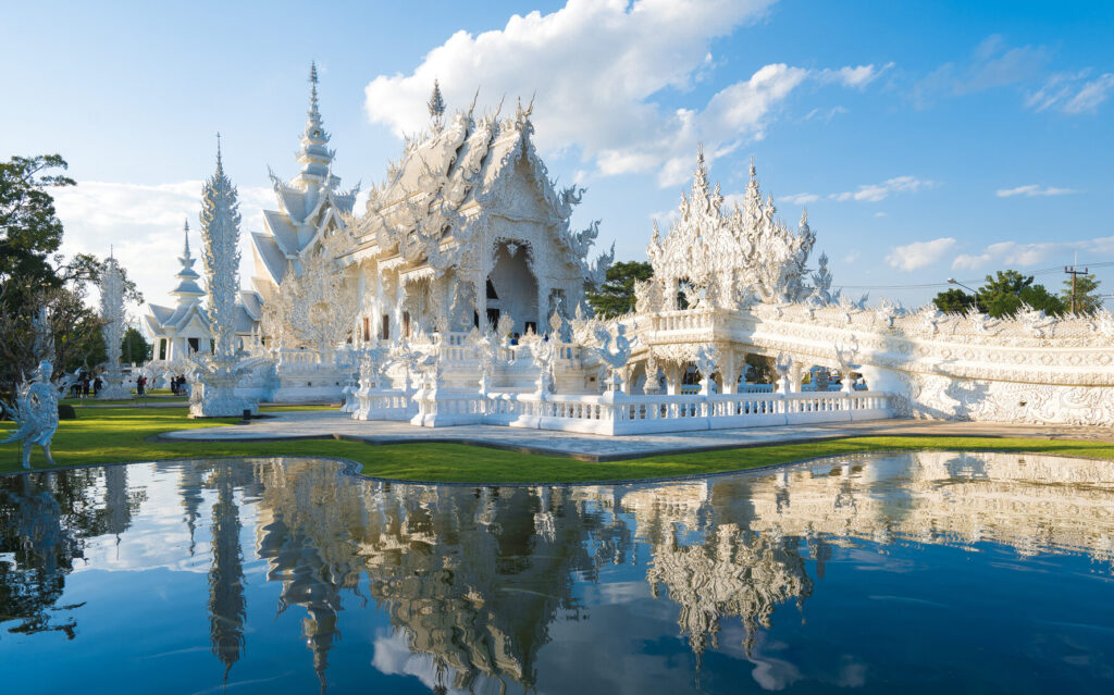 The Temple in White color
